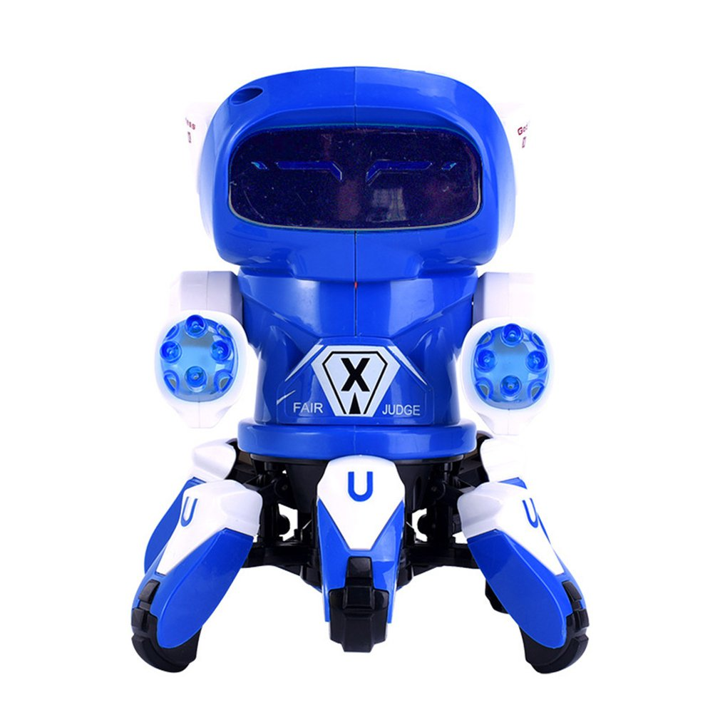 Electric Robot Toy Lightweight And Delicate Six Claw Fish Dancing Robot Toy Fashionable Beautiful With Light Music