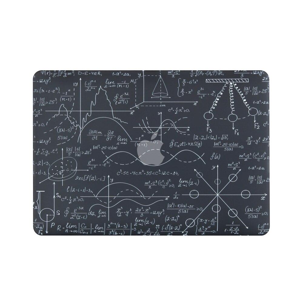 Nova Fórmula impressão 3D Capa MacBook Air Pro Retina 11 12 13 15 para mac livro 13.3 15.4 polegada com Barra de Toque + Tampa Do Teclado