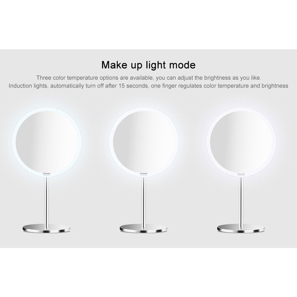 Image 3 - Yeelight LEDs Makeup Mirror Light Touching Control Motion Sensor make up Eye Protection Night Light for Xiaomi Dresser Table-in Vanity Lights from Lights & Lighting