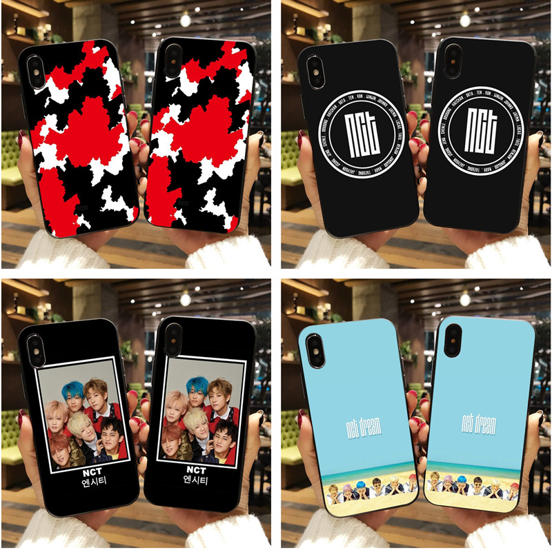 NCT 127 <font><b>Kpop</b></font> Boy group Soft Silicone Phone cover <font><b>Case</b></font> For <font><b>iPhone</b></font> X XR XS MAX 8 7 6 6S PLUS 5S <font><b>KPOP</b></font> K.A.R.D MONSTA X NCT 127 <font><b>Case</b></font> image