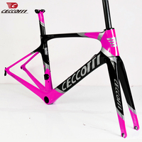 Light Weight Carbon Disc Road Frame fork 12*100mm or Thru Axle 12*142mm Custom Painting Road Bike Disc Brake