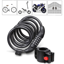 120cm Bike/Door anti-theft Cord Cable Lock Tough Security Coded Steel Wiring Bicycle 5 Digit Code Combination D30