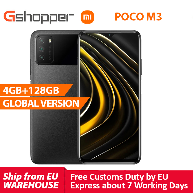 Global Version POCO M3 4GB 128GB Xiaomi Smartphone Snapdragon 662 6.53
