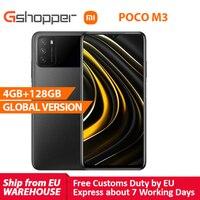 Xiaomi-teléfono inteligente POCO M3 versión Global, 4GB y 128GB, Snapdragon 662, pantalla de 6,53 pulgadas, 6000mAh, cámara de 48MP
