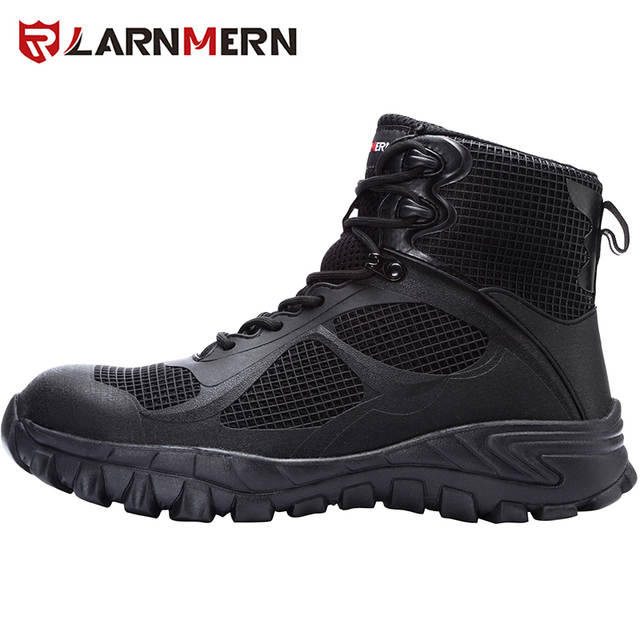 LARNMERN Steel Toe Shoes Men or Women Safety Lightweight Breathable Work Shoe Construction Hiking Sneakers