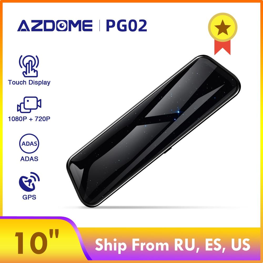 Azdome PG02 10 ミラータッチダッシュカムストリーミングメディア adas デュアルレンズカメラを反転ナイトビジョン  1080 1080p 車レコーダーためユーバー -    グループ上の 自動車