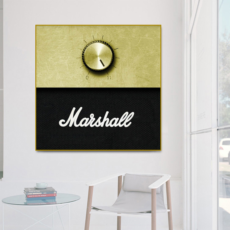 RELIABLI Marshall Amplifier Volume Knob Music Poster Canvas Print Wall Art Pictures For Living Room Decorative Paintings Unframe