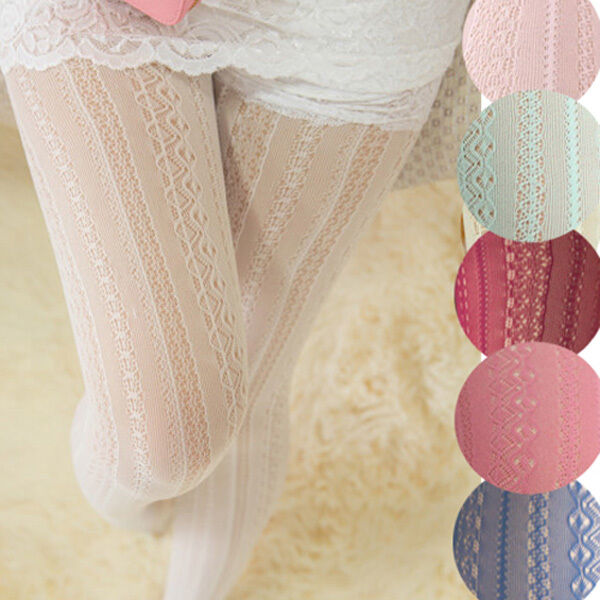 Knitted Cotton Solid Girls Tights Fashion Women Winter Autumn Warm Crochet Pantyhose 9 Colors