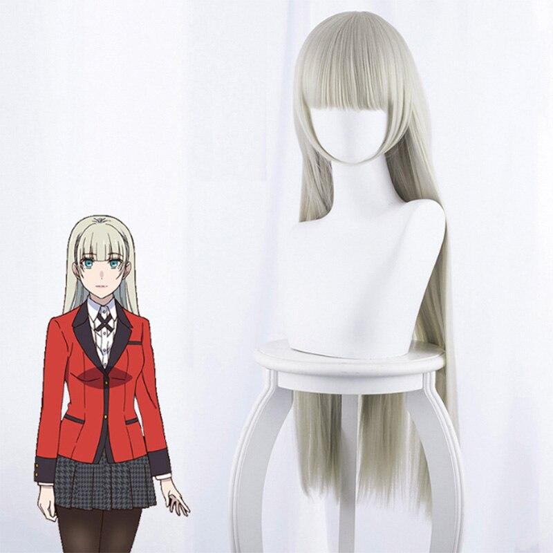 Аниме какегуруи компульсивный гамблер Косплей парики Ririka Momobami Руна Yomozuki Mary Saotome Yumeko Jabami синтетические парики для косплея - Цвет: Ririka Momobami