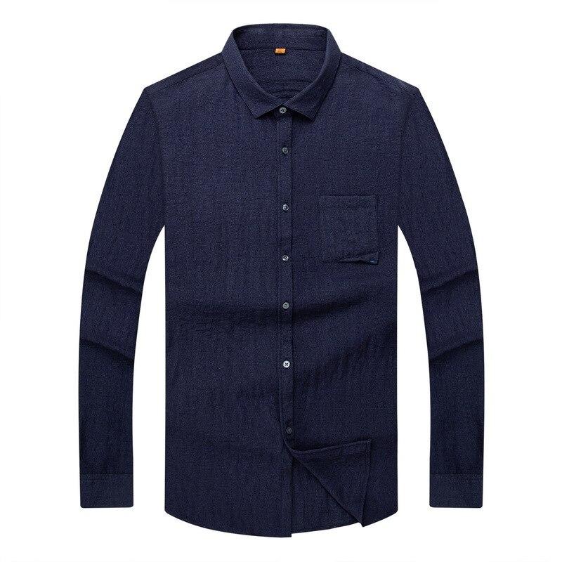 Plus Size 8XL 7XL 6XL 5XL 4XL  New Mens Solid Shirt High Quality Men Long Sleeve Shirt Men Social Casual Shirt Spring Autumn