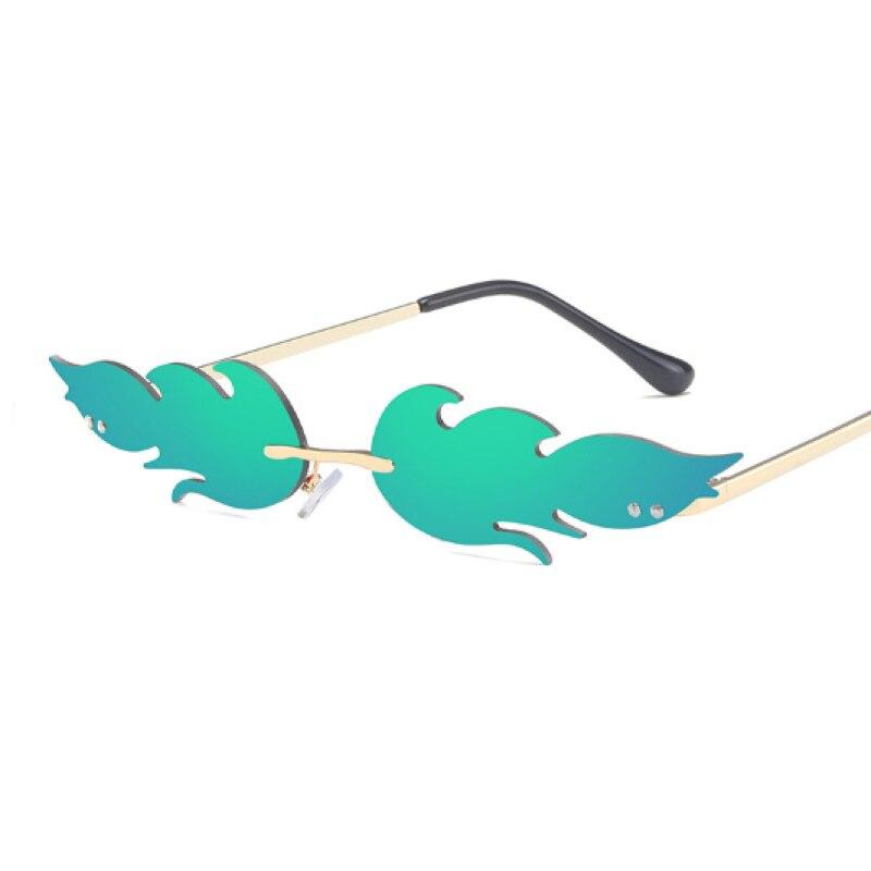 חדש 2020 אש להבת פאנק משקפי שמש נשים גברים מותג עיצוב ללא שפה משקפי גל יוקרה במגמת צר שמש משקפיים Streetwear