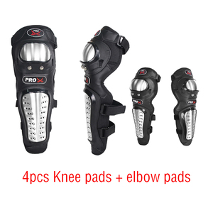 Image 1 - Motorcycle knee pads Stainless Steel Elbow Pad Knee Pad warm knee pads for Motorbike and Sports Game