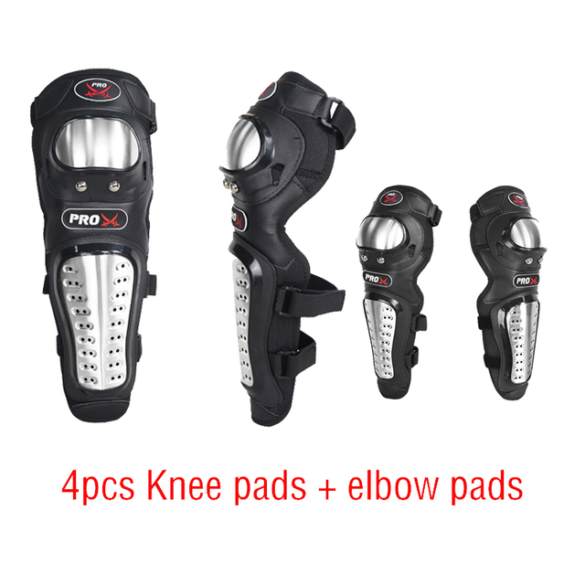 Motorcycle knee pads Stainless Steel Elbow Pad Knee Pad warm knee pads for Motorbike and Sports Game