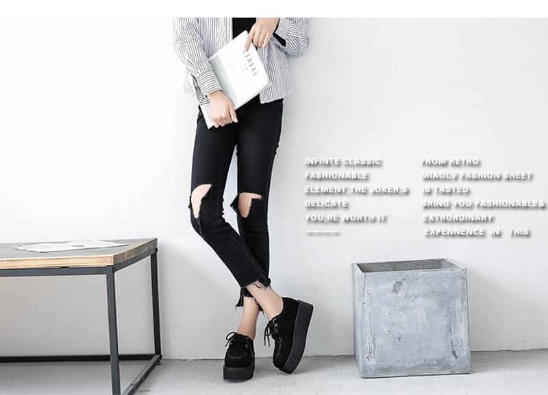 creepers sapatos de plataforma moda rendas até
