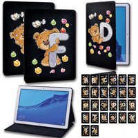 Funda de cuero para tableta Huawei MediaPad T3 8,0/T3 10 9,6 pulgadas/T5 10 10,1 pulgadas, funda con soporte + gratis Stlyus