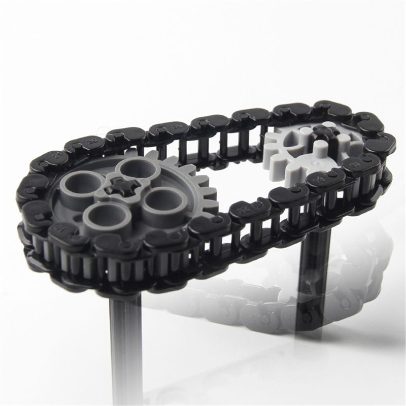 Bricks Technic Parts Bulk Chain Link 3711 Gear Tank Track Tread Motorcycle Cater Axle Conector Wheels <font><b>Pulley</b></font> Chain Link <font><b>Car</b></font> Toys image