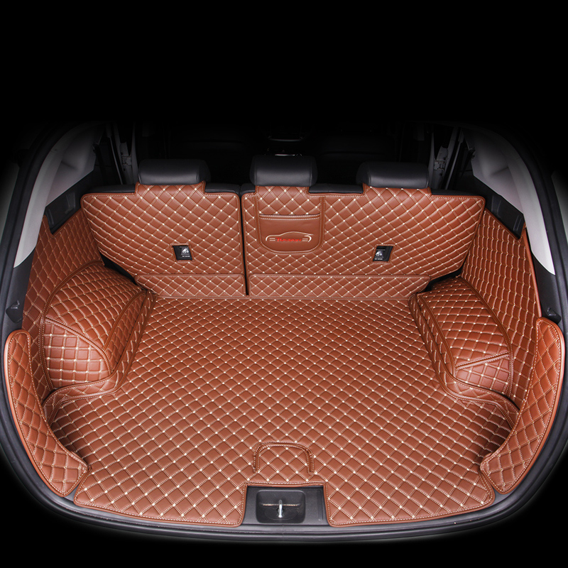 Lsrtw2017 Leather Car Trunk Mat For Hyundai Tucson 2016 2017 2018 2019 2020 Suv Cargo Liner Accessories Interior Boot