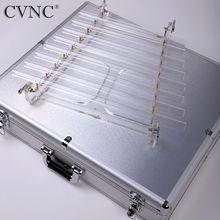 CVNC 440 Hz or 432Hz  8 Tubes Note CDEFGABC Cear Quartz Crystal Singing Harp with Alumina Alloy Box