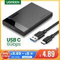 HDD корпус Ugreen, корпус для жесткого диска с переходником 2,5 SATA к USB 3,0, коробка для SSD диска HDD, типа C 3,1 корпус HD внешний HDD корпус