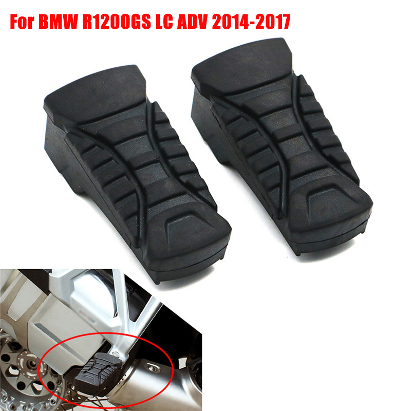 For 2014 - 2017 BMW R1200GS LC R 1200 GS ADV Motorcycle Passenger Footrest Foot Peg Footpegs Rubber Cover Rear Black 2015 2016