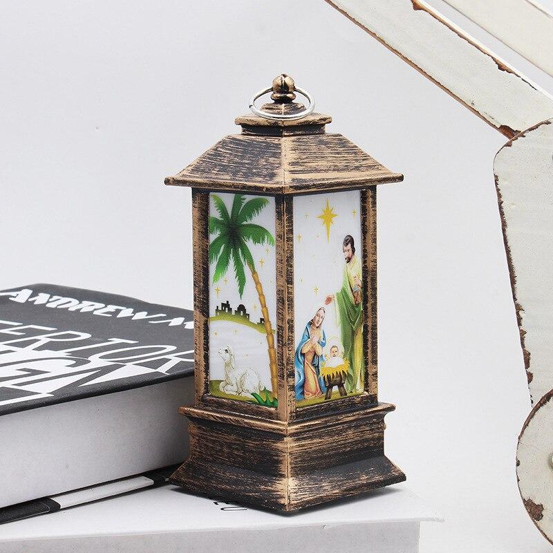 Рождественский светильник s лампа настольная наружного освещения Светодиодный окрашенный светильник подсвечник светильник s винтажный ночной Светильник Санта Снеговик Олень торшер Иисус - Испускаемый цвет: Jesus