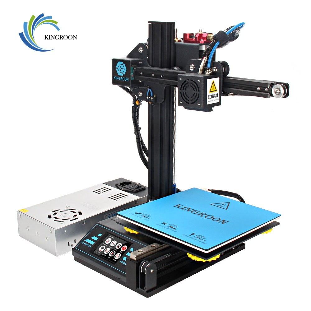 Chegada nova Atualizados High-precision DIY 3D Impressora de Auto-montagem 180*180*180 milímetros de Metal Rígido quadro Drukarka 3D