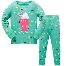 2020 Children Super Owl Warm Cotton Clothing Suit Baby Girls Deer Pyjamas T-shirt Stripe Pants 2pcs