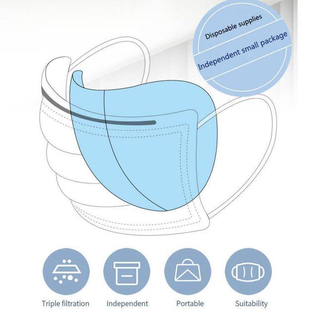 50pcs Anti-fog Mask Gasket Disposable Dust Mask Filter Anti-flu Formaldehyde Odor Bacteria Protection Mask Protection Sheet 4