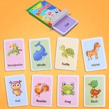 36 pçs crianças forma de cartão cognição cor animal ensino bebê inglês aprendizagem cartão palavra educação brinquedos montessori materiais presente