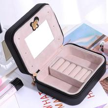 Jewelry Organizer Display Travel Jewelry Case Boxes Portable Jewelry Box Leather Necklace Storage Organizer Display Case цена и фото