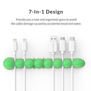 Image 2 - ORICO organizador de cables para teléfono móvil, gestión de cables de teléfono móvil, soporte para cables y Clips