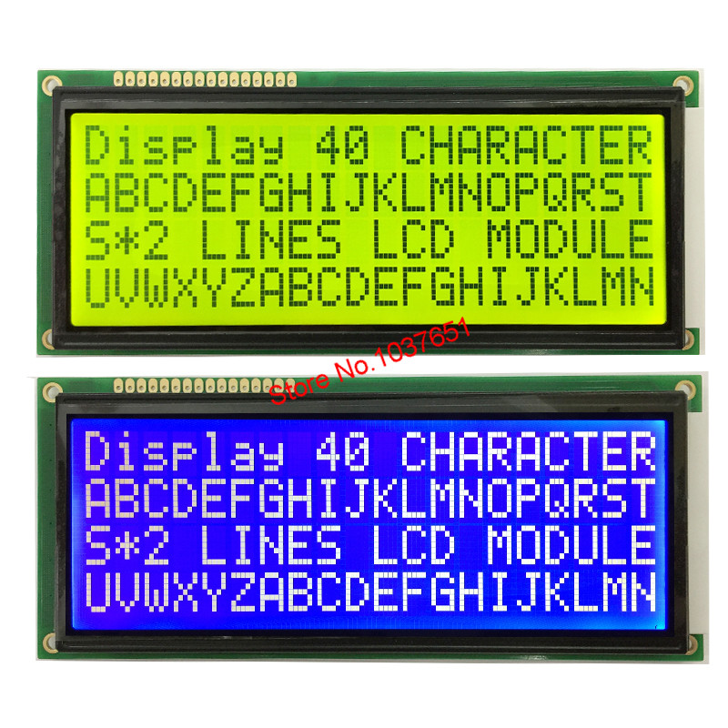 Free Shipping 1pcs  2004 20*4 Big Large Character Size  LCD Display Module Green Screen 5V 146*62.5mm HD44780 LC2042 WH2004L