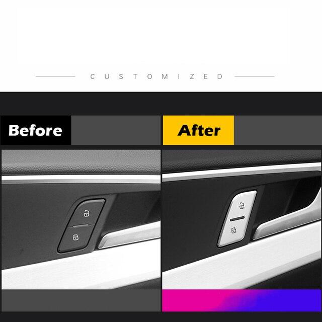 Auto Deur Unlock Knop Stickers Switch Knop Cover Trim Handvat Stickers Geschikt Voor Audi A4 B9 A3 Q5 Q3 Auto interieur Styling