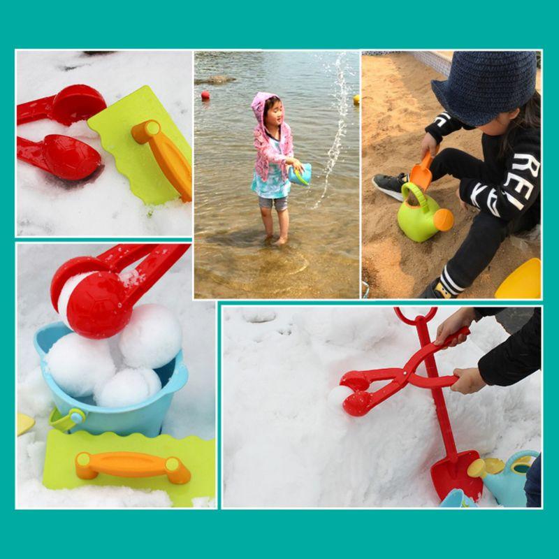 Duck Shaped  Plastic Snowball Maker Clip Children Outdoor Winter Snow Sand Mold Tool