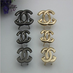 50pcs/lot Luggage Bag Hardware Accessories Metal Decorated Buckle Shoe Buckle Adornment Bag Hardware Accessories