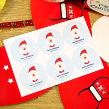 60PCS/lot New Year Santa Claus Merry Christmas Series Kraft paper Sticker for Handmade baking Products/Gift seal sticker label
