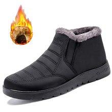 Erkek botları kış sıcak Faux kısa peluş kar botları erkekler 2020 yeni erkek açık yüksek kalite kış sneakers ayakkabı erkekler kar botları