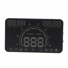 Car-Styling E350 5.8 Screen HUD Car Head Up Display Engine Fault Fuel Alarm Speedometer Speed Projector