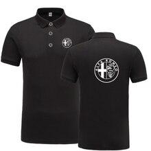 Новинка, летняя рубашка поло с коротким рукавом, Homme, высокое качество, хлопок, модная рубашка поло с логотипом Alfa Romeo, Повседневная деловая рубашка поло A