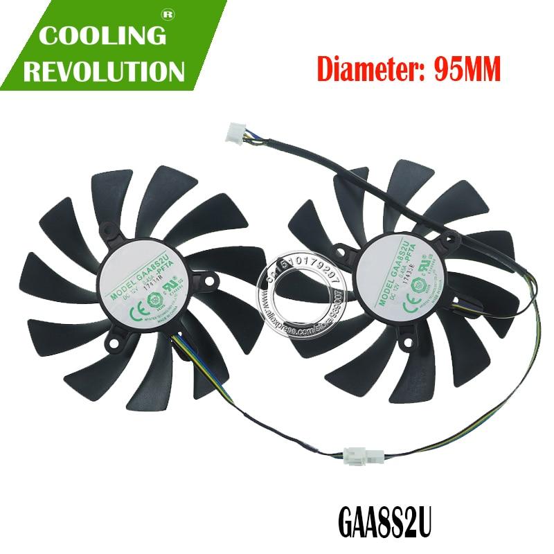 New Original For ZOTAC GTX1080Ti AMP EDITION 11GB Graphics Card Cooling Fan GAA8S2U DC12V 0.45A 4PIN