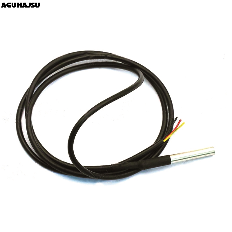 1PCS <font><b>DS1820</b></font> Stainless steel package Waterproof DS18b20 <font><b>temperature</b></font> probe <font><b>temperature</b></font> <font><b>sensor</b></font> 18B20 For Arduino image