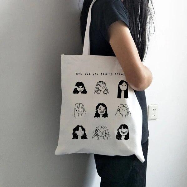 Korean Style Canvas Handbag Women's Shoulder Bag Fashion Casual Shopping Bags Designer High Quality Large Capacity Handbags