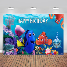 Photographic Backgrounds Dory Nemo Under-The-Sea-Birthday-Party Bubbles Underwater 7x5ft