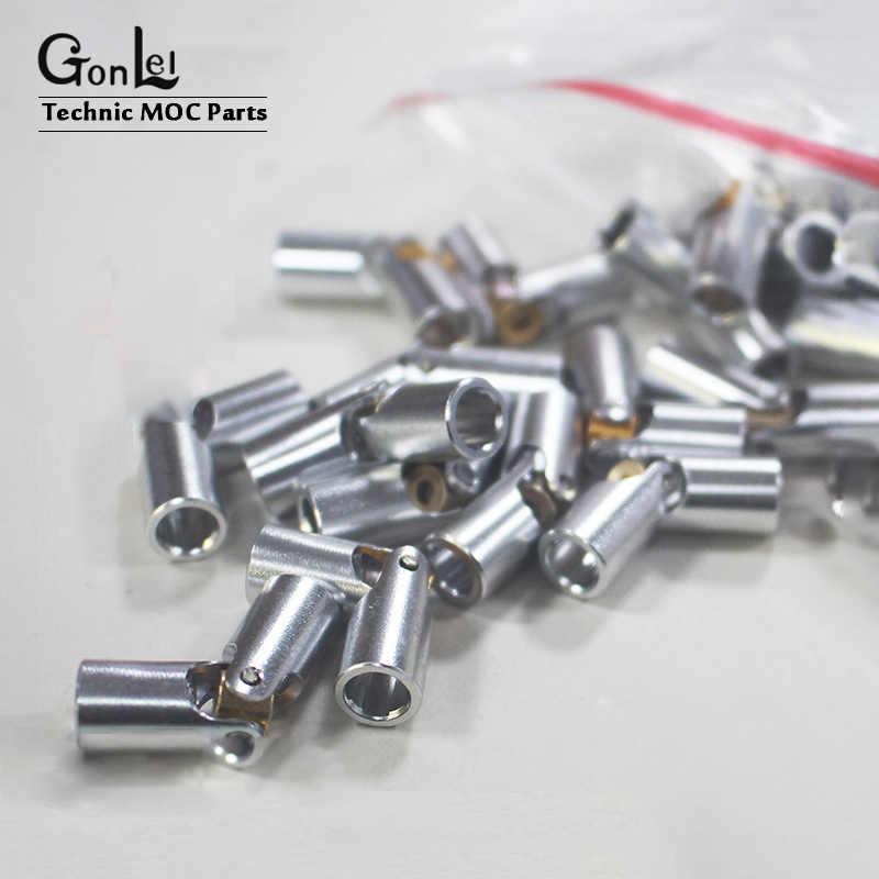 5-10 adet Metal evrensel ortak eksen konektörü 61903 bilim ve teknoloji serisi MOC parçaları 9244 yapı bloğu parçaları DIY oyuncaklar