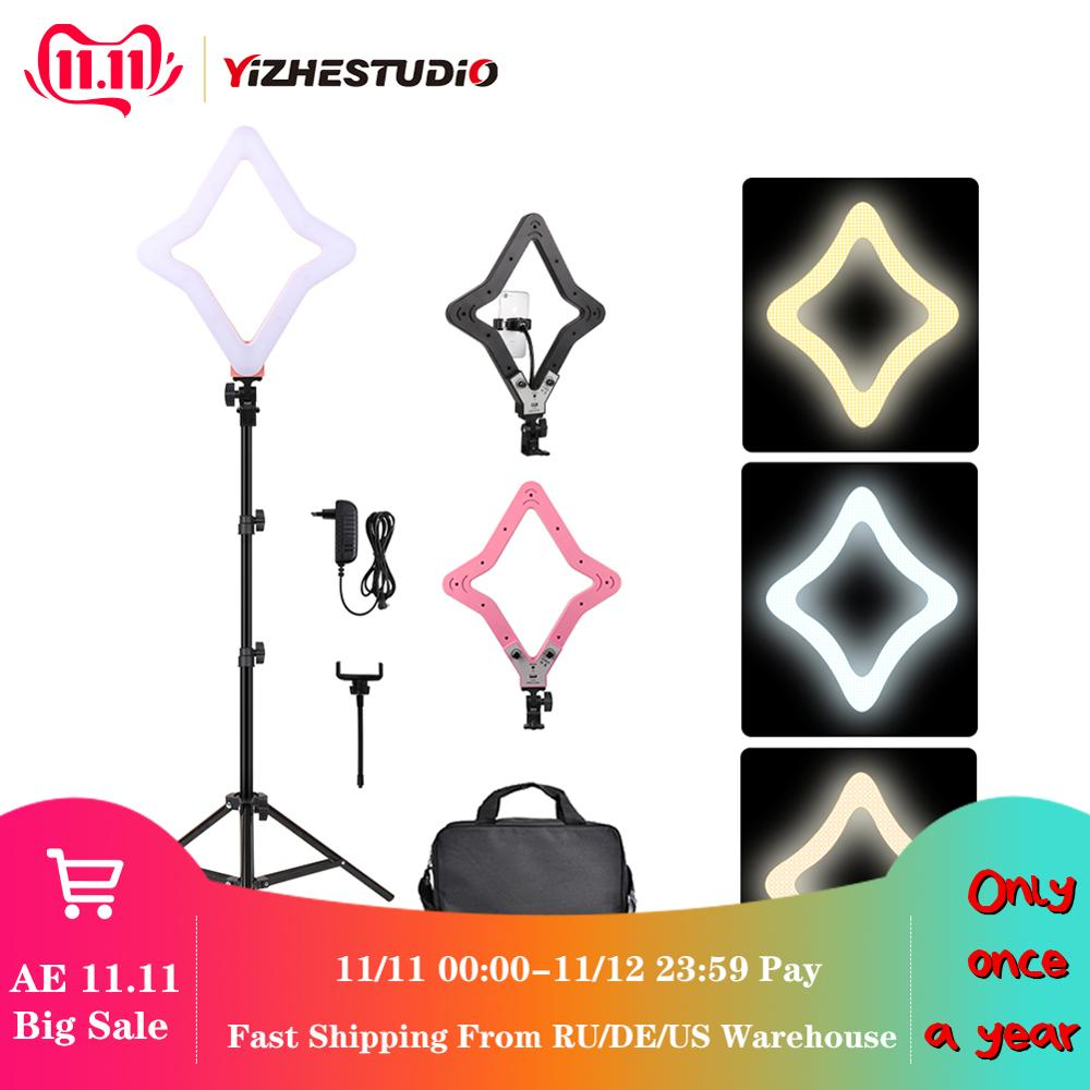 2019 New 15 inch Ring Light Star Lamp Bi color Photographic Light Extreme Star Light with Light Stand for YouTube Live Stream-in Photographic Lighting from Consumer Electronics