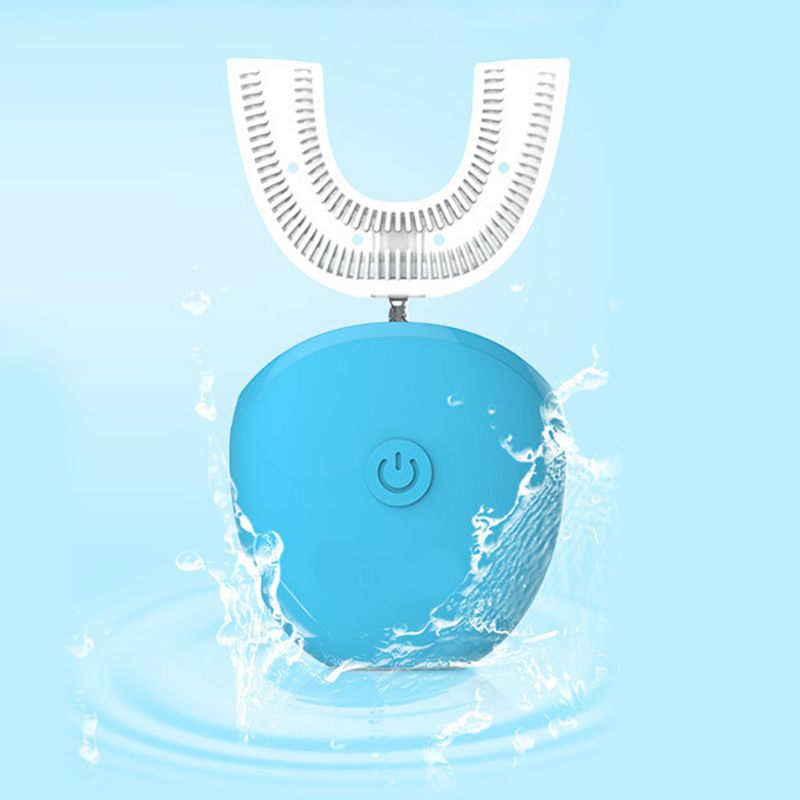 New 360 Degree Auto Disinfection U Shape Timer Ultra Sonic Silicon Waterproof Electric Toothbrush Wireless Rechargeable 3 Modes