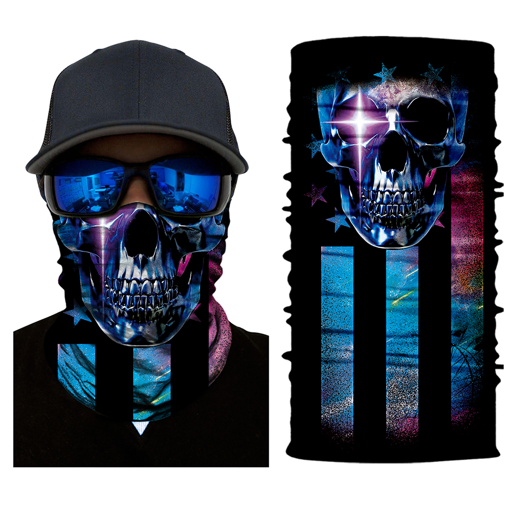 Bike Smile Joker Face Mask Cool Magic Skull Motorcycle Ski Headband Sport Outdoor Sports Neck Warmer Cycling
