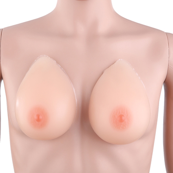 1 Pair Waterdrop Shaped Self-adhesive Medical Silicone Breast Forms Nude  All-shipping