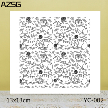 ZhuoAng A group of cats Clear Stamps For DIY Scrapbooking/Card Making Decorative Silicon Stamp Crafts