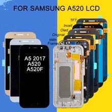 Catteny A5 2017 дисплей для Samsung Galaxy A520 ЖК сенсорный экран дигитайзер панель в сборе A520F ЖК с рамкой